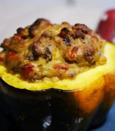 Herbstgericht – Accorn-Kürbis mit Gemüsegratin